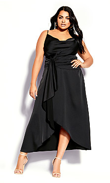 Plus Size Simplicity Dress - black