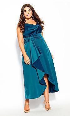 Plus Size Simplicity Dress - viridian