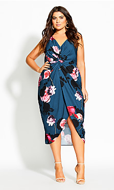 Floral Bliss Dress - emerald
