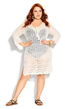 Crochet Love Tunic - ivory