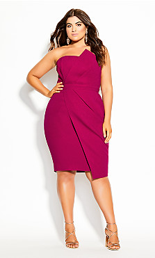 Plus Size Enchant Dress - framboise
