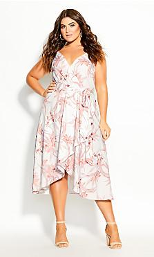 Plus Size Juno Floral Dress - ivory