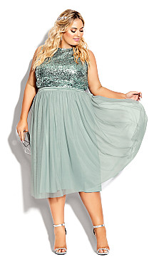 Plus Size Tulle Star Skirt - topaz