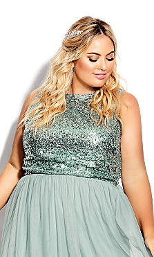Plus Size Be Dazzle Top - topaz