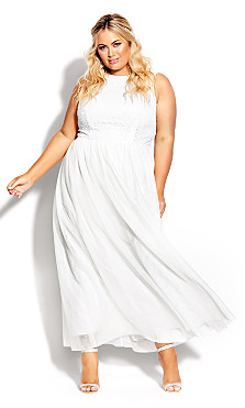 Plus Size Shine Bright Maxi Dress - ivory