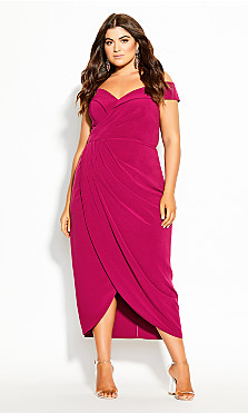 Rippled Love Dress - magenta