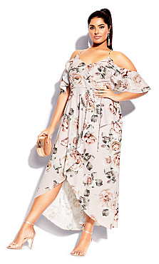 Champagne Rose Maxi Dress - blush