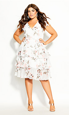 Plus Size Lady Ascot Dress - ivory