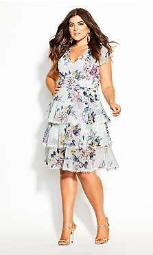 Plus Size Summer Love Dress - ivory