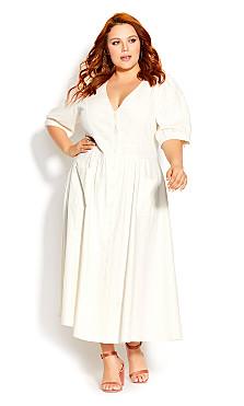 Plus Size Luca Dress - ivory