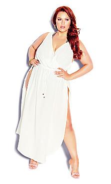 Plus Size Sunlover Maxi Dress - white