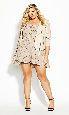 Plus Size Ruffle Daze Playsuit - doe