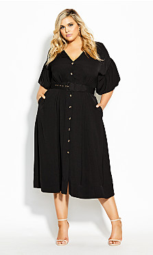 Plus Size Golden Hour Dress - black