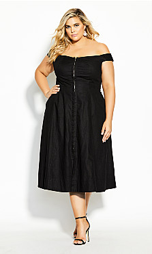 Plus Size Summer Daze Dress - black