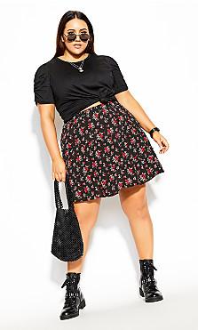 Plus Size Eva Top - black