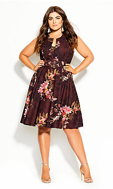 Plus Size Marbella Night Dress - wine