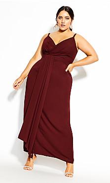 Plus Size So Swish Maxi Dress - bordeaux