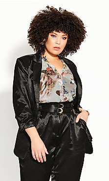 Plus Size Wild Escape Jacket - black