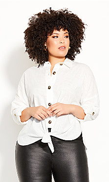 Plus Size Urban Explorer Top - ivory