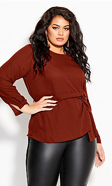 Plus Size Lucky One Top - henna