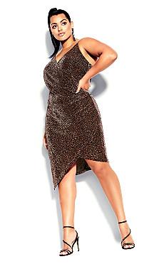 Plus Size Madam Chelsea Dress - bronze
