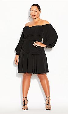 Plus Size Rebel Royale Dress - black