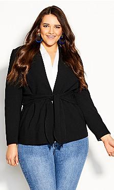 Plus Size Elegance Jacket - black