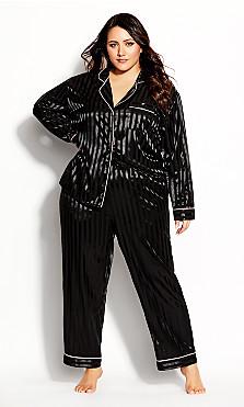 Plus Size Sophia Sleep Pant - black
