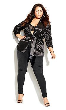 Plus Size Harley D Ring Skinny Jean - black