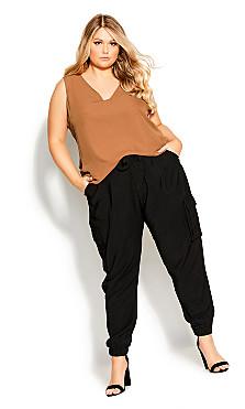 Plus Size Effortless Pant - black