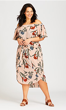 Plus Size Amelie Dress - blush