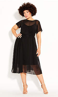 Plus Size Dark Sky Dress - black