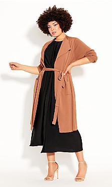 Plus Size High Living Dress - black