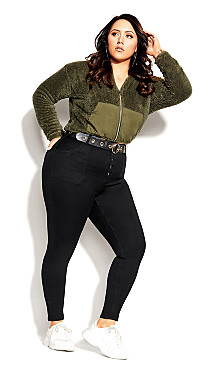 Plus Size Harley Strut It Out Jean - black
