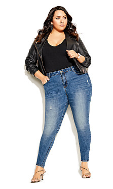 Plus Size Harley Chill Out Jean - denim