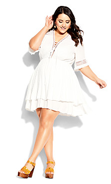 Plus Size Bring The Heat Dress - ivory
