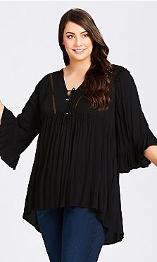 Plus Size Jolie Plain Tunic - black