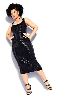 Sexy Sequin Dress - black