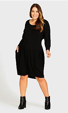 Plus Size Wellesley Dress - black