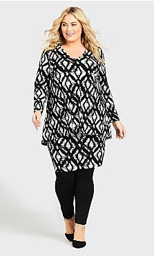 Chaya Dress - black ikat