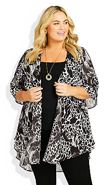 Plus Size Tatum Jacket - animal