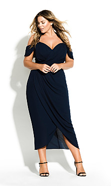 Women's Plus Size Entwine Maxi Dress - Navy