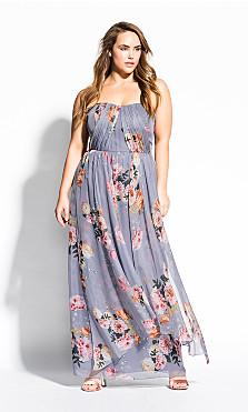 Women's Plus Size Whimsy Florence Maxi Dress - grey