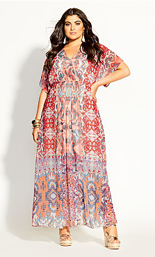 Adisa Mirror Maxi Dress - punch