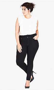 Plus Size Harley Regular Skinny Jean - black