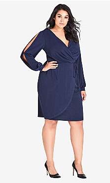 Women's Plus Size Split Sleeve Dress