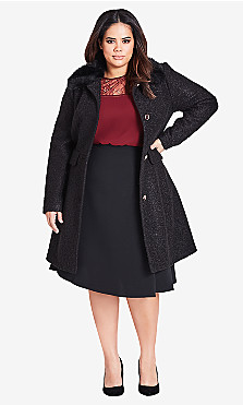 Women's Plus Size Winter Rose Coat