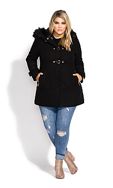 Women's Plus Size Wonderwall Coat - black