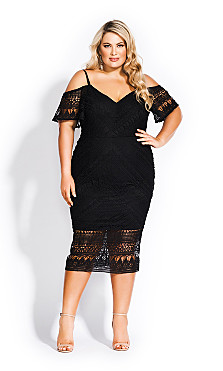 Women's Plus Size Impressions Dress - black
