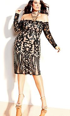 Rare Sequin Dress - black
